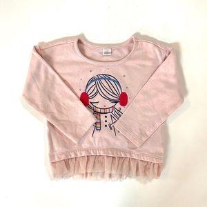 Baby GAP Toddler Girl Blush Sweatshirt